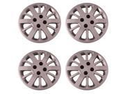 Set of 4 Silver 15 Inch Chevy Cobalt 12 Spoke Replacement Hubcaps w/ Bolt On Retention System - Aftermarket: IWC453/15S
