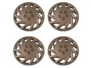 Set of 4 Silver 15 Inch Aftermarket Replacement Hubcaps with Metal Clip Retention System - Aftermarket Part: IWC118/15S