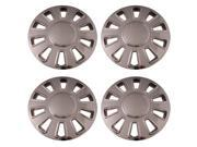 Set of 4 Chrome 17 Inch Aftermarket (Replica of Crown Vic Hubcaps) Wheel Covers with Snap On Retention System : IWC433/17C