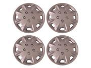 Set of 4 Silver 14 Inch Universal Replacement Hubcaps with Clip Retention - Aftermarket: IWCB8094/14S