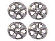 4 New Chrome 5 Spoke Wheel Skin Hub Cap Covers for 2011 - 2013 Dodge Charger with 17 inch wheels