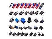 "Ultimate 37"" 1 Sensor Modules Kit for Arduino & MCU Education User Starter Vibration Resistor Infrared Emission Active Buzzer Obstacle Avoidance Key Switch Temperature"