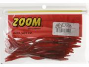 Zoom 006-270 Trick Worm 20 PK Red Bug Shad Bass Fishing Soft Plastic