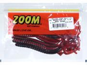 Zoom Soft Plastic Fishing Bait 026-029 Super Salt+ Ol' Monster Worm Red Shad