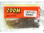 """Zoom Bass Fishing Bait 033-015 8"""" Super Salt+ Magnum Lizard Pumpkin/ Chartruese"""