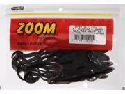 "Zoom Bass Fishing Bait 033-001 8"" Super Salt+ Magnum Lizard Black /Red Glitter"