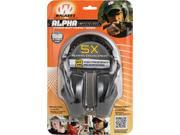 Walkers WGE84976 Game Ear Alpha Carbon Power Muffs Compact Series Provides Up
