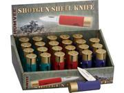 Humvee HMVDBSHOT Folder Knife Shotgun Shell Knives 24 Piece Display 2 5/8""