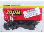 Zoom Bass Fishing Bait 001-001 Super Salt+ U-Tale 20 PK Black /Red Glitter