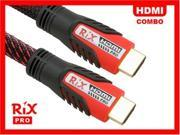 Rix Pro EZConnect™ HDMI v1.3 Cable Combo 10ft + 2ft