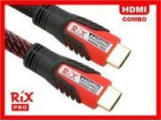 Rix Pro EZConnect™ HDMI v1.3 Cable Combo 16.5ft + 2ft