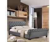 Kate Queen Fabric Bed in Gray