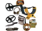 Garrett ACE 350 Metal Detector W/Powerful 8.5 x 11 DD Coil & Cover, Headphones, Plus Edge Digger, Camo Treasure Pouch, Training DVD, Bonus Searcher CD