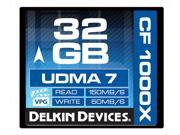 Delkin Devices   DDCFCOMBAT1000 32GB   1000X UDMA 7 Compact Flash Memory Card