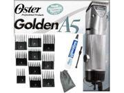Oster A5 2 Speed Golden Animal dog horse Clipper/Blade/10 pc Comb Guides