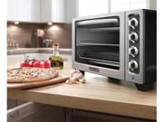 KitchenAid KCO222OB Countertop Oven Onyx Black Toaster pizza Oven Bake Broil Manufacturer Refurbished