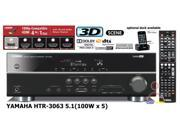 Yamaha R-HTR-3063 Home Theater Receiver htr3063 5.1 ch 500 WATTS HDMI With Remote Manufacturer Refurbished