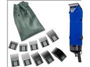 Oster Turbo A5 2-Speed Velvet Blue Limited Dog Animal Pro Clipper + 10 Pc Comb