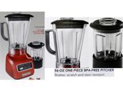 KitchenAid Vortex Wet & Dry Blender 5-Speed .9 HP Motor Empire Red KSB655CER