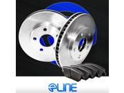 [FRONT KIT] ELINE OE BLANKS BRAKE ROTORS & PADS- Ford E-350 ECONOLINE CLUB WAGON