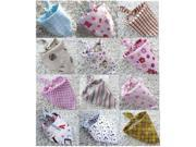Fashionable Baby Bandana Bibs / Bibdanas (12 Pack for Infant / Babies)