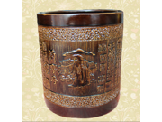 Handcrafted Bamboo Pen and Brush Cup