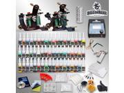 Complete Tattoo Kit Machine Guns Ink Set Needle Power Supply D189GD