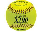 Fastpitch Softballs - MacGregor NFHS-Approved Yellow 12-Inch, One Dozen