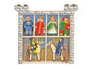 8 Pc Wood Castle Doll Play Set