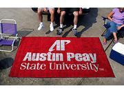 Ulti-Mat Floor Mat w Officially Licensed Austin Peay State University Logo In Team Colors