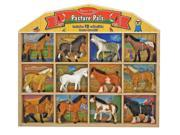 Melissa & Doug Pasture Pals Plush Touch Horses - 12 Pcs
