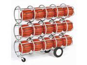 Sports Ball Rack - Locking Tiers, Steel Frame, Casters (20 Balls Storage)