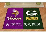 All Star Floor Mat - House Divided - Vikings and Packers