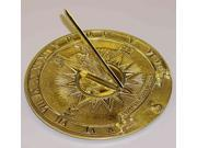 Sundial with Brass Nautical Accents