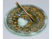 Brass Lunar Zodiac Sundial