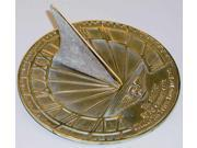 Hourglass Sundial with Polished Brass