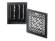 Cast Iron Register w Louvers in Powder Coated Black