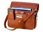 Traditional Executive Brief Case in Cowhide Leather w Adjustable Shoulder Strap (Black)