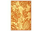 Rug in Natural with Terra Floral Design (2 ft. 7 in. x 5 ft.)