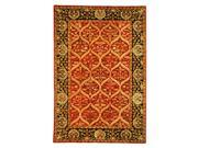 Hand-Tufted Navy & Red Wool Area Rug (3 ft. x 5 ft.)