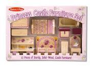 Princess Castle 12 Pc Wooden Miniature Furniture Set
