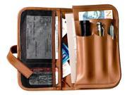 Automobile Organizer in Tan Leather Holds Insurance, Registration & Lots More (Black)
