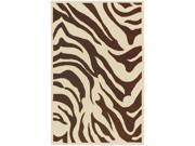 Goa G169 Wool Rug in Chocolate & Ecru Animal Print (2 ft. x 3 ft.)
