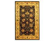 Traditional Wool Rug with Black Background (2 ft. x 3 ft.)