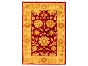 Hand-Tufted Wool Area Rug in Red & Gold (4 ft. x 6 ft.)