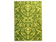 Rug in Olive with Natural Color Pattern (6 ft. 7 in. Round)