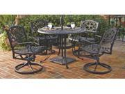 5-Pc Aluminum Outdoor Dining Set (42 in. - Black)