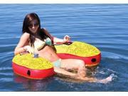 Airhead U-Lounger in Yellow & Red