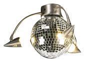 3 Spotlight Disco Ball Light Kit w Limiter in Brushed Nickel