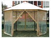 Hexagon Gazebo w Insect Screen